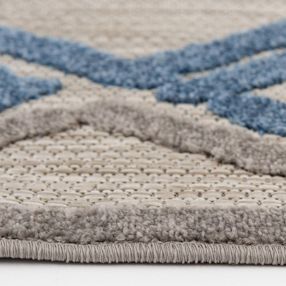"""Central Oriental Fontana Parlan 1656.61 7'10"""" x 9'10"""" Gray and Blue Area Rug, , large"""