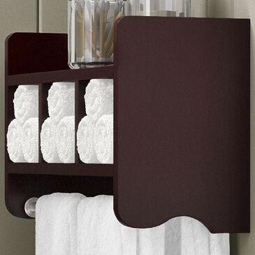 "Bolton Furniture 25"" Bath Storage Shelf with Towel Rod in Espresso, , large"