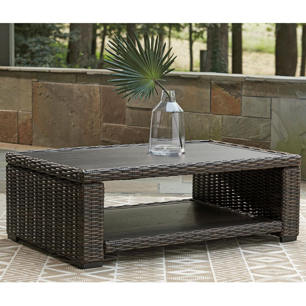 Signature Design by Ashley Grasson Lane Rectangular Cocktail Table in Brown, , large