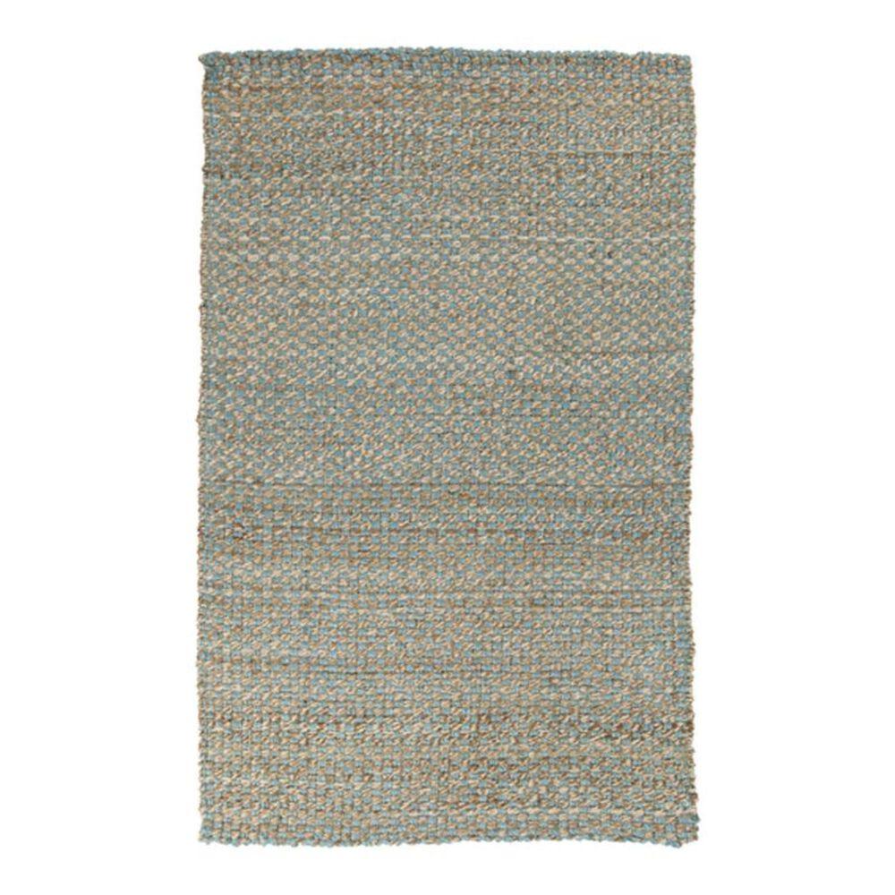 Surya Reeds REED-823 2' x 3' Blue/Khaki Scatter Rug, , large