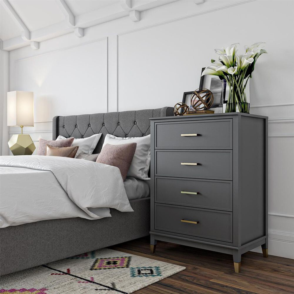CosmoLiving by Cosmopolitan Westerleigh 4 Drawer Chest in Graphite, , large