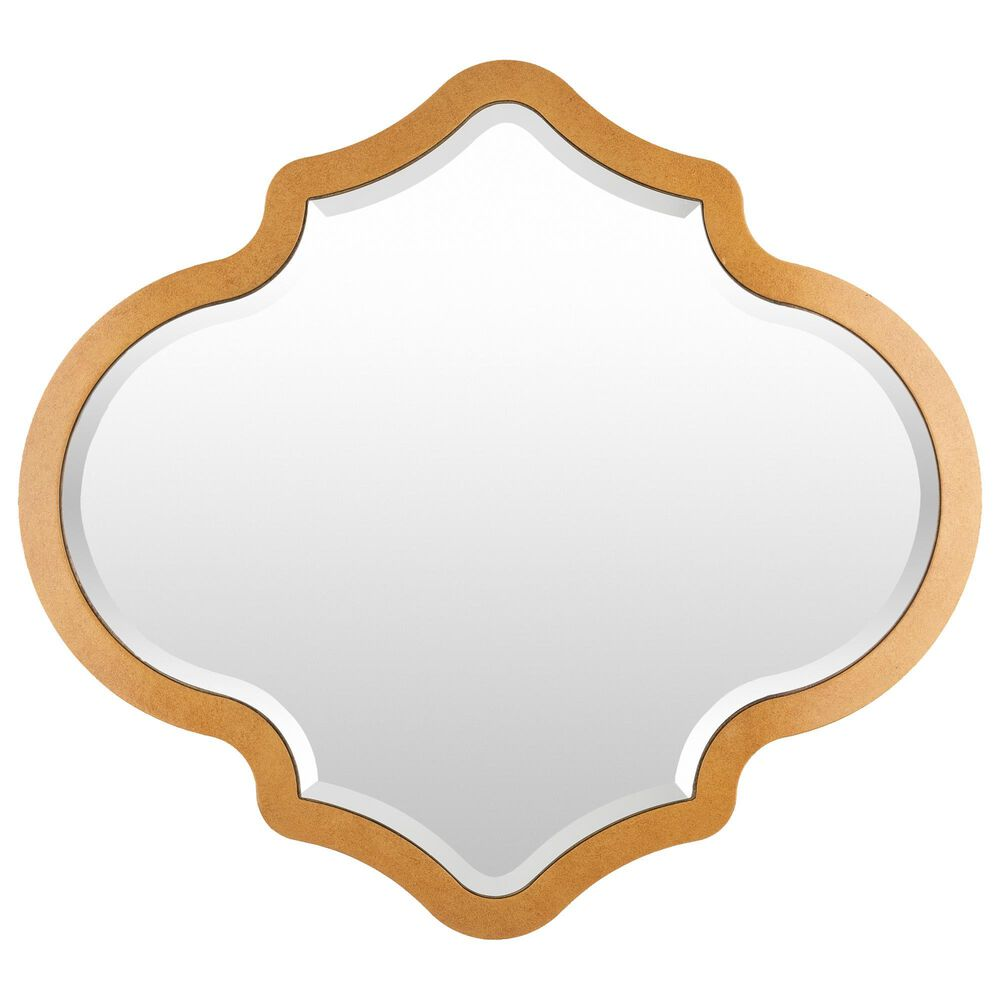 Surya Inc Quatrefoil Wall Mirror in Gold, , large
