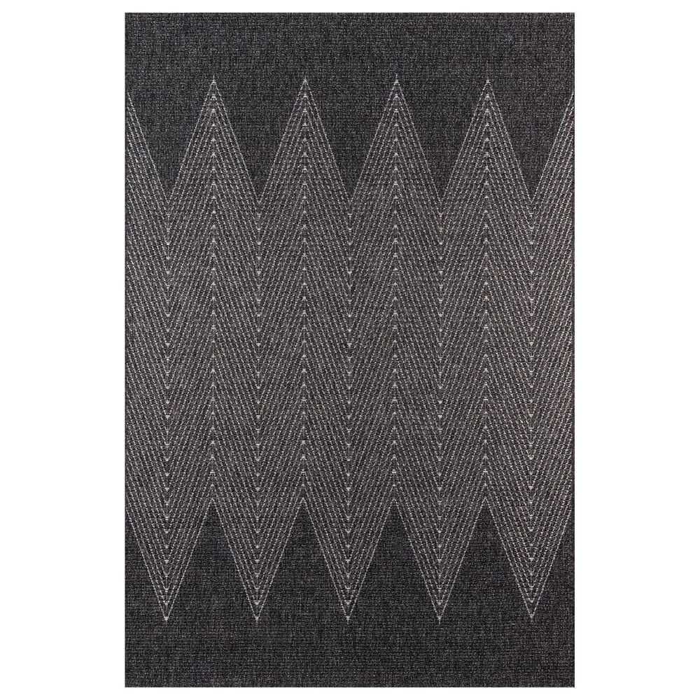 Momeni Como 2' x 3' Charcoal Indoor/Outdoor Area Rug, , large