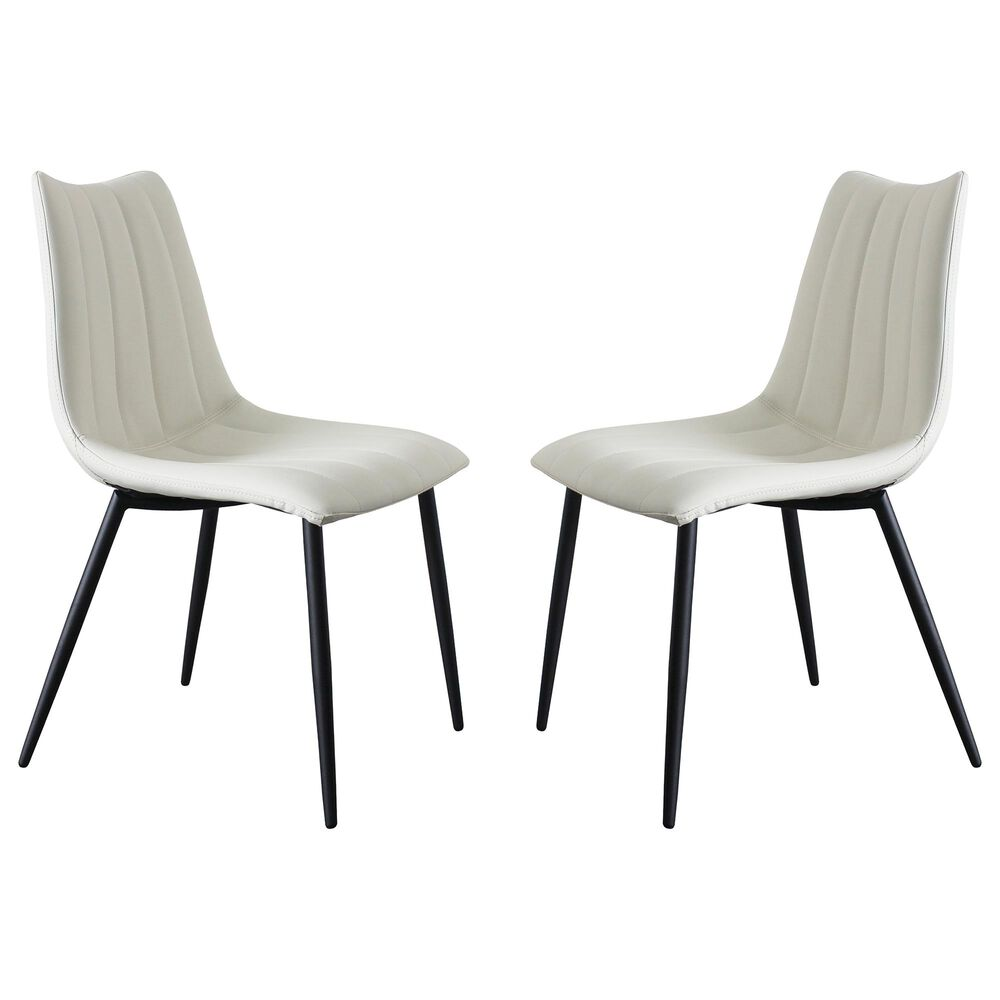 Moe's Home Collection Alibi Dining Chair in White (Set of 2), , large