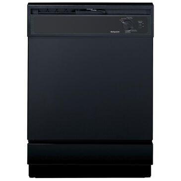 "Hotpoint 24"" Built-In Dishwasher, Black, large"