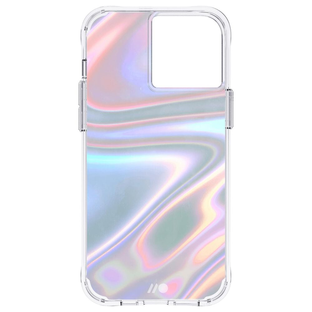 Case-Mate Iridescent Case with MicroPel for Apple iPhone 13 Pro Max in Soap Bubble, , large