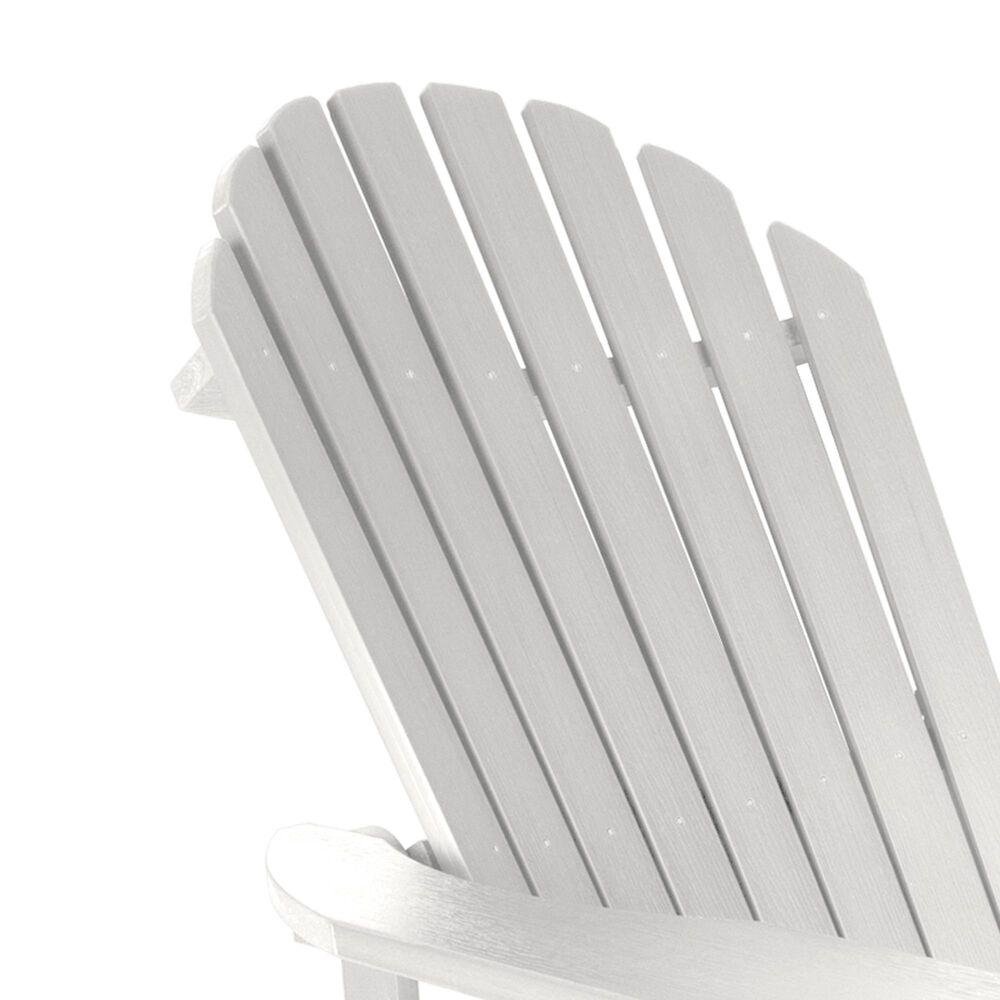 Highwood USA King Hamilton Folding & Reclining Adirondack Chair in White, , large