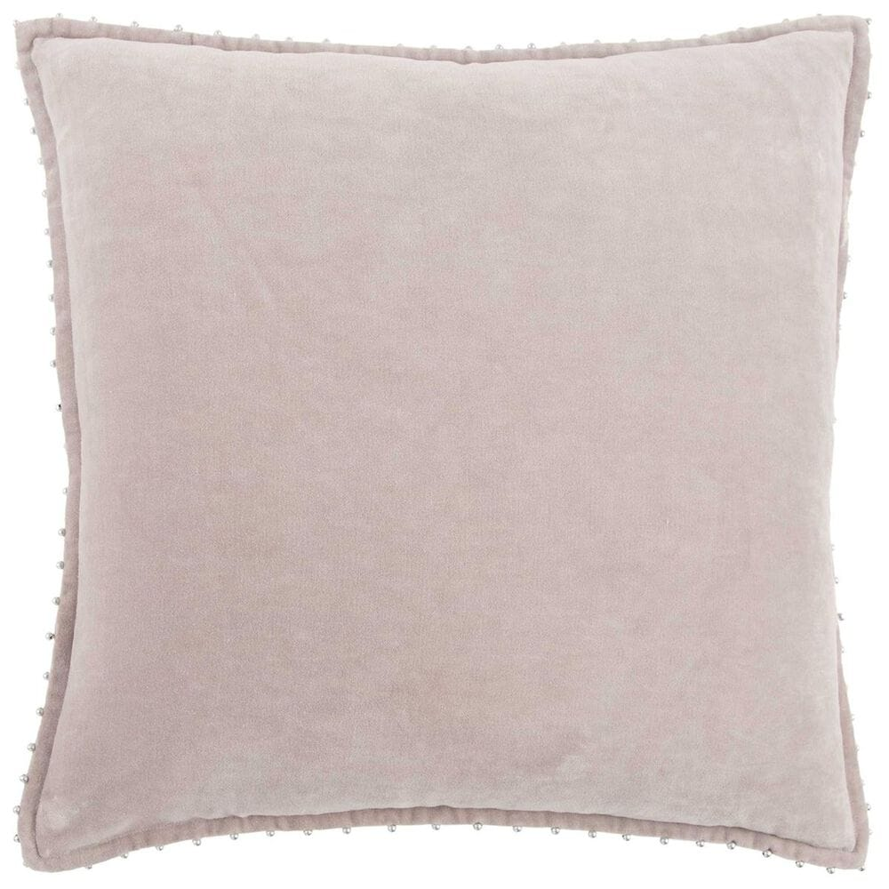 """Rizzy Home 22"""" x 22"""" Pillow Cover in Light Pink, , large"""