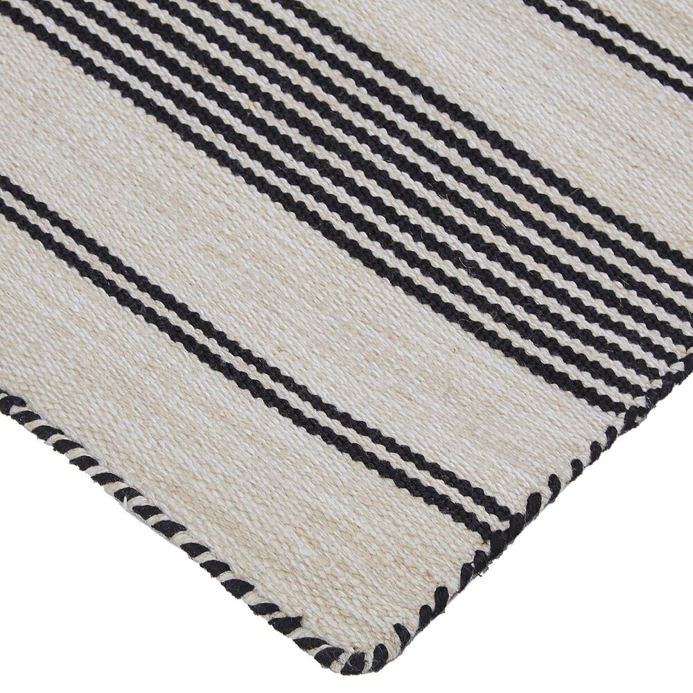 Feizy Rugs Duprine 8' x 11' Black and Ivory Area Rug, , large