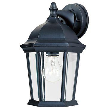 "Maxim Lighting Builder 12"" 1-Light Outdoor Wall Lantern in Black, , large"