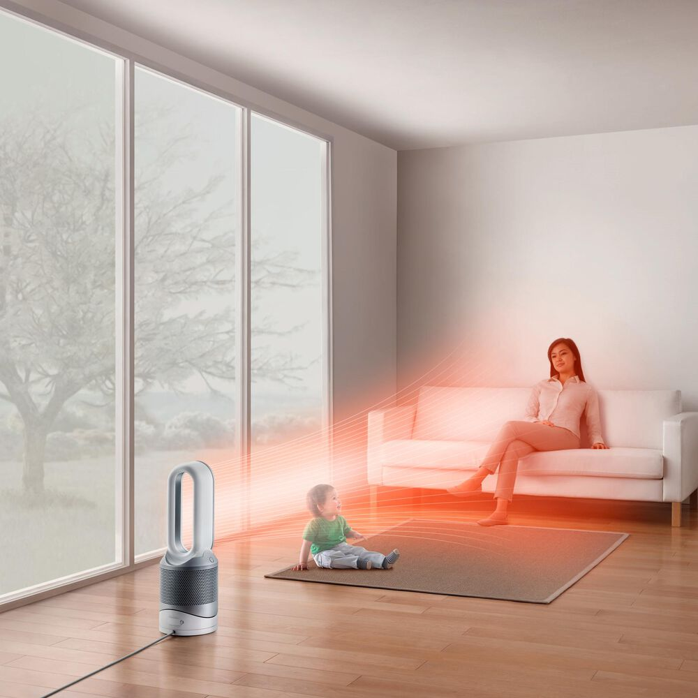 Dyson Pure HP01 Hot+Cool Purifying Heater+Fan in White/Silver , , large