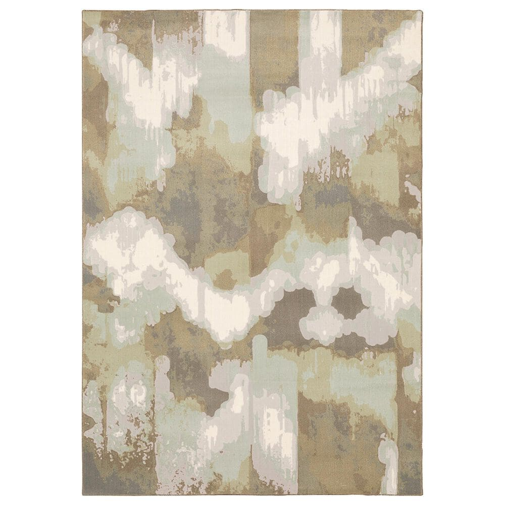"""Oriental Weavers Capistrano Abstract 539C1 7""""10"""" x 10""""10"""" White Area Rug, , large"""