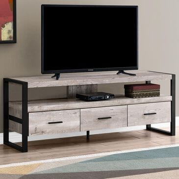 "Monarch Specialties 60"" TV Stand in Taupe, , large"