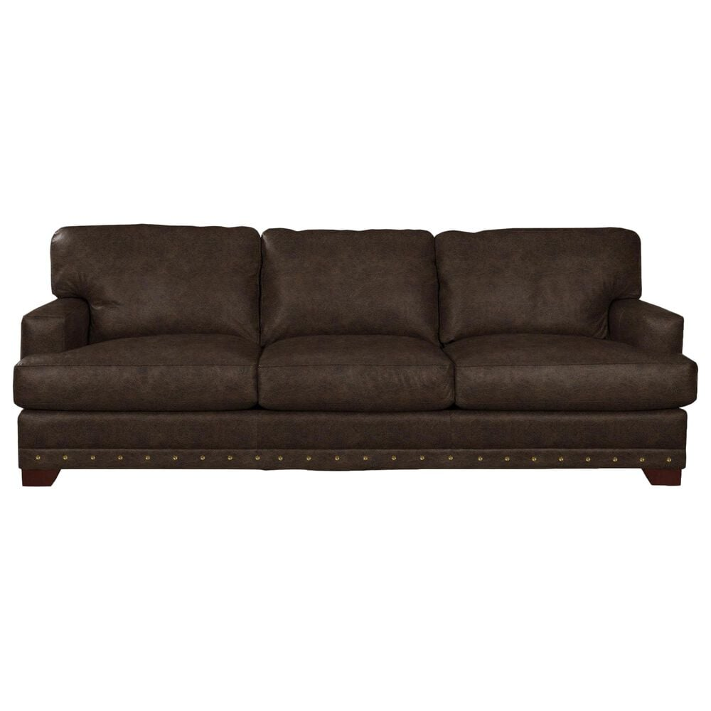 Hickorycraft Sofa in Winslow Brown Leather, , large