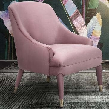 Tov Furniture Orchid Velvet Chair in Pink, , large