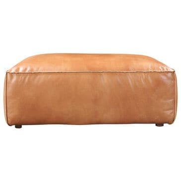Moe's Home Collection Luxe Leather Ottoman in Tan, , large