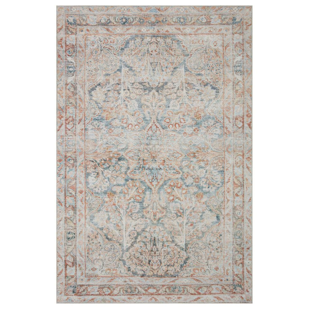 "Magnolia Home Lenna LEA-02 5' x 7'6"" Ocean and Apricot Area Rug, , large"