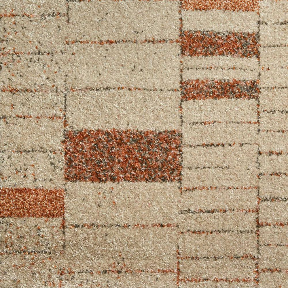 "Loloi II Bowery 2'3"" x 7'6"" Tangerine and Taupe Runner, , large"