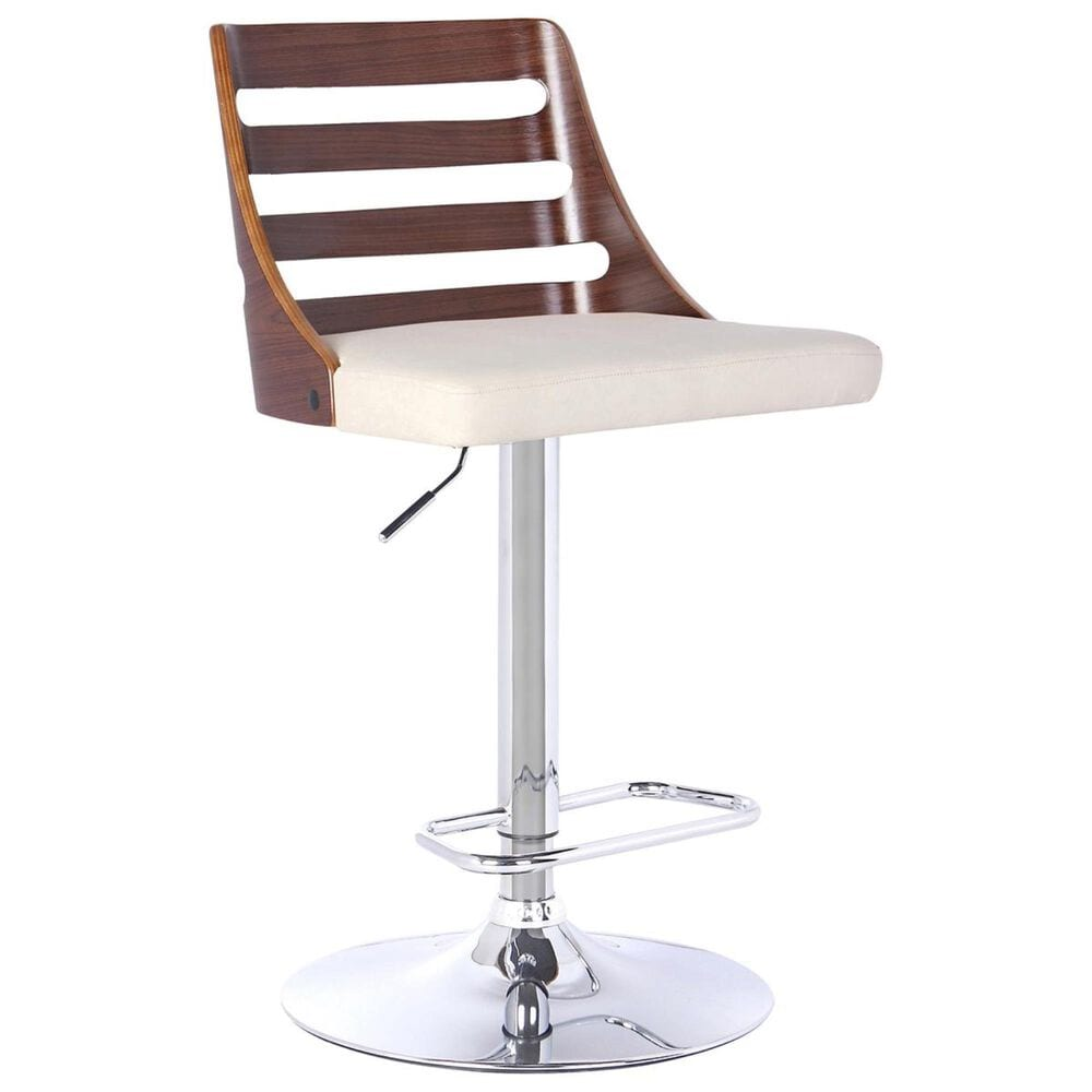 Blue River Storm Bar Stool in Cream and Walnut, , large
