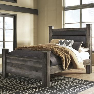 Signature Design by Ashley Wynnlow Queen Poster Bed in Gray, , large