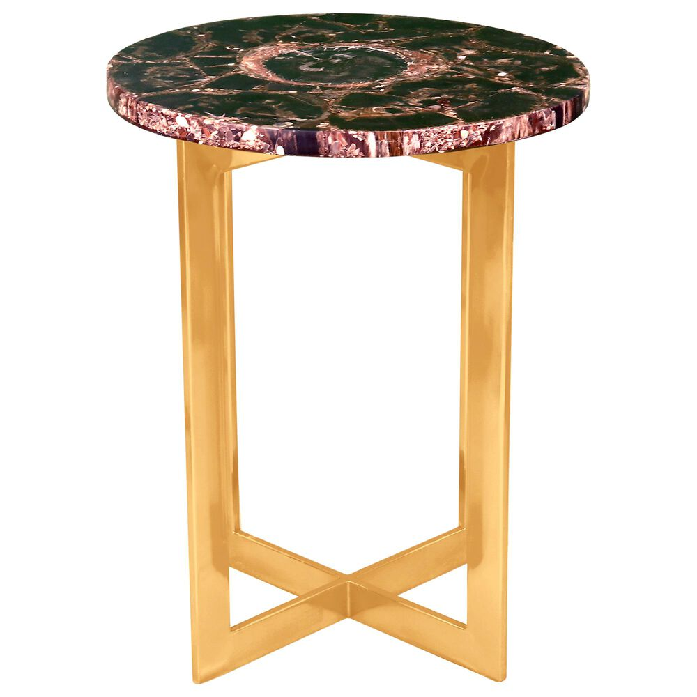 Moe's Home Collection Fossil Accent Table in Black, , large