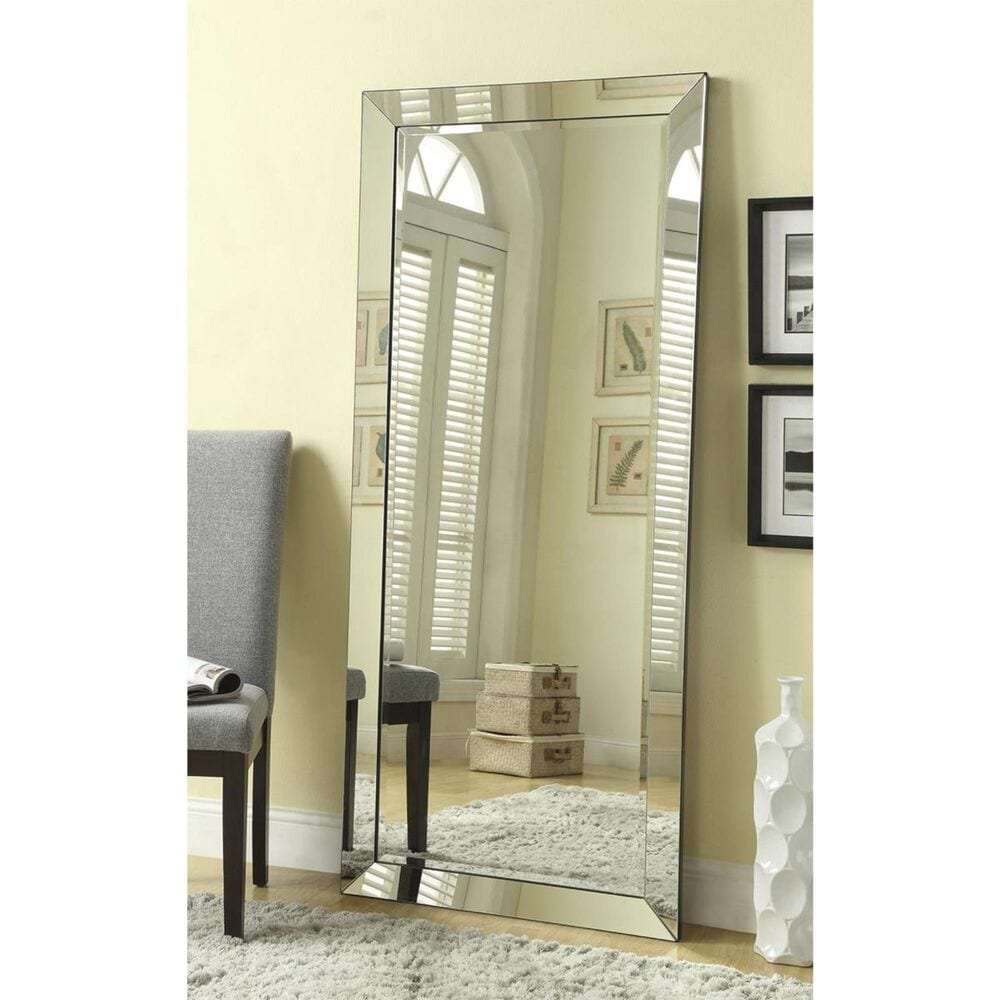 at HOME Floor Mirror in Silver , , large