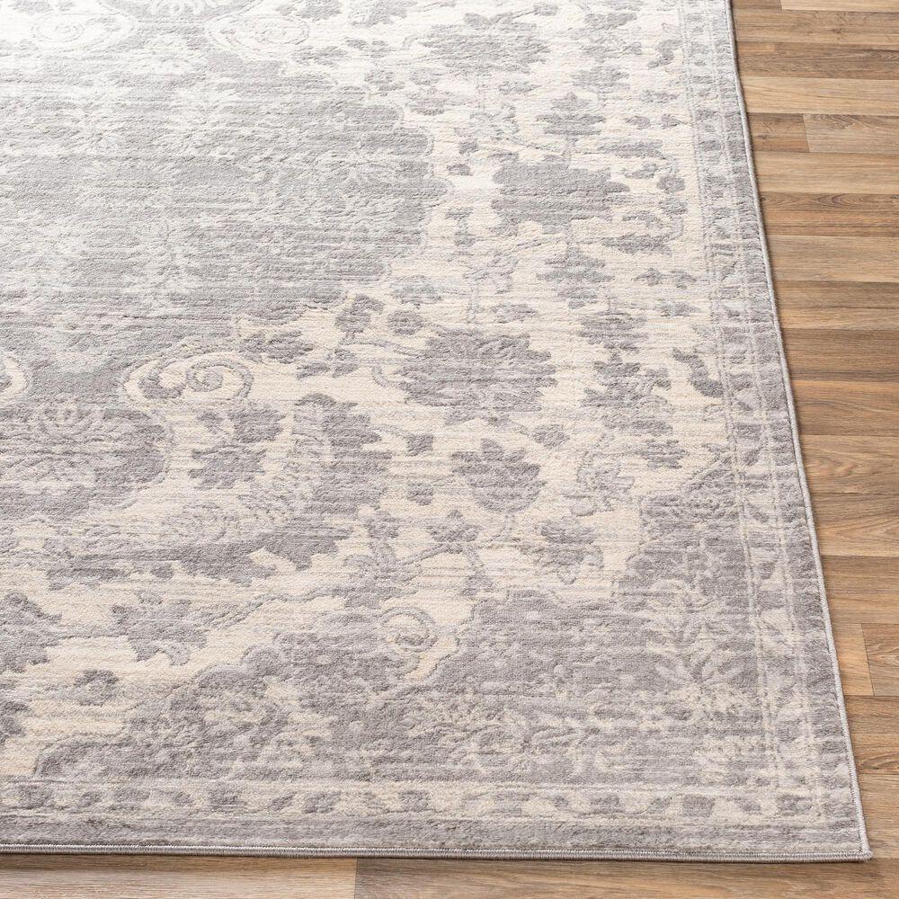 "Surya Monaco MOC-2323 6'9"" x 9'9"" Silver Gray and Cream Area Rug, , large"