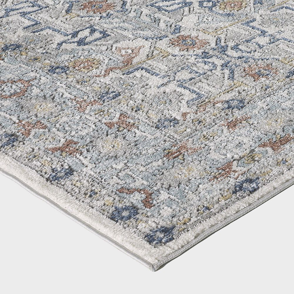 """Central Oriental Orient Dania 3822.04 2'2"""" x 7'6"""" Cream and Light Blue Runner, , large"""
