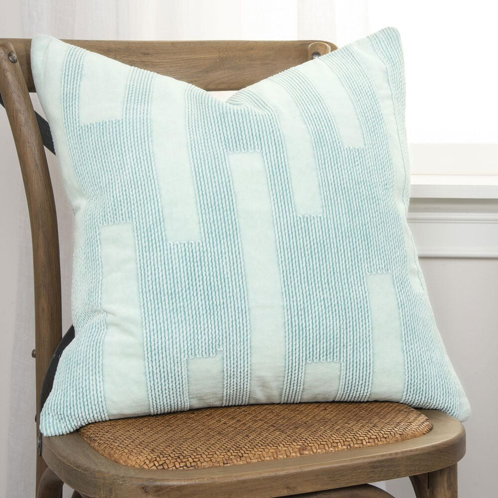 """Rizzy Home 20"""" Insert Pillow in Lite Blue, , large"""
