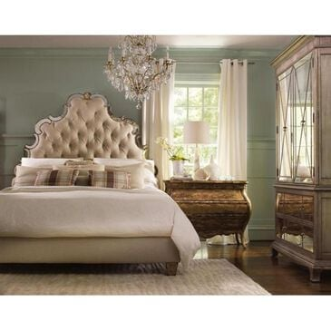 Hooker Furniture Sanctuary King Tufted Bed in Bling, , large