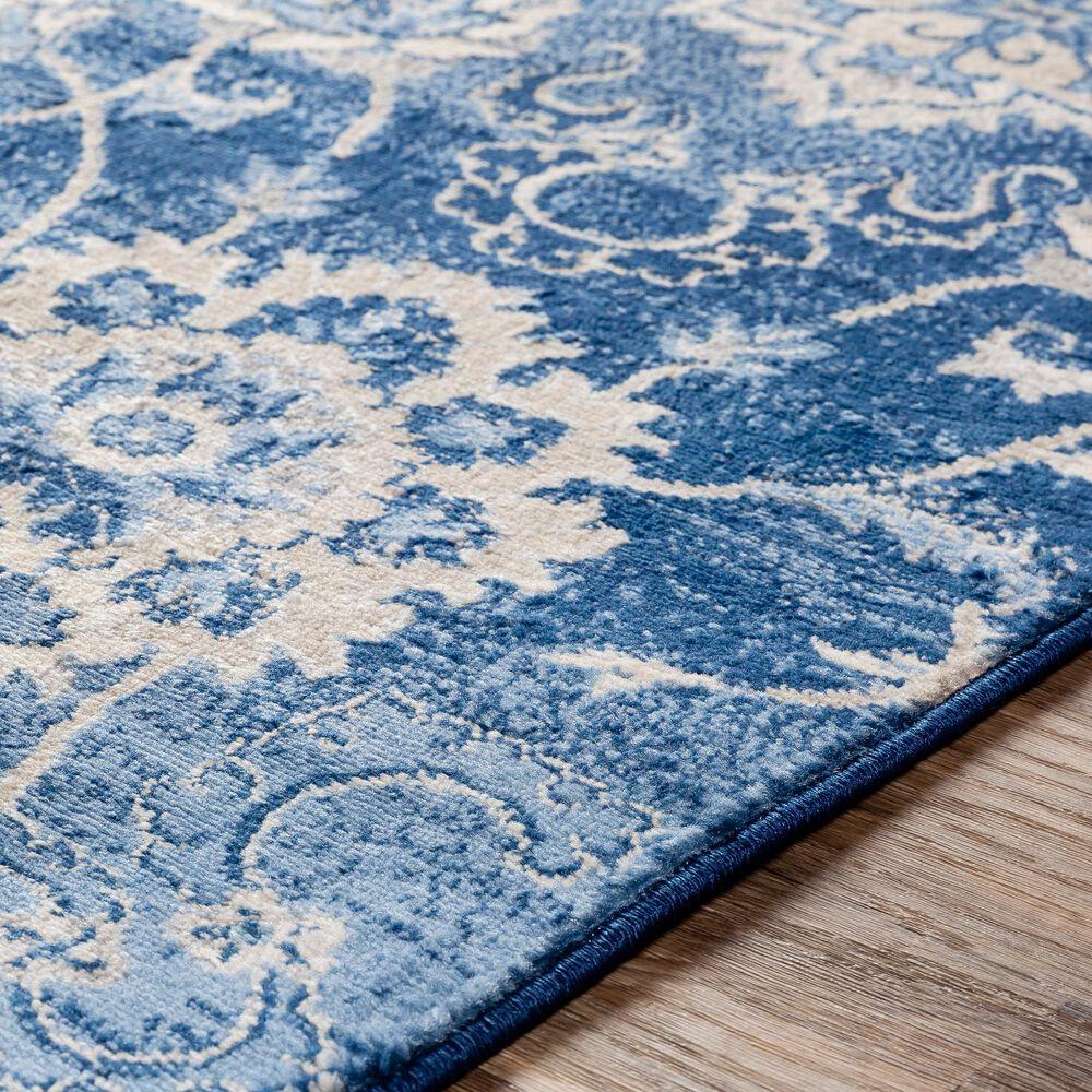 "Surya Monaco MOC-2307 2'6"" x 8' Bright Blue, Khaki and Gray Scatter Rug, , large"