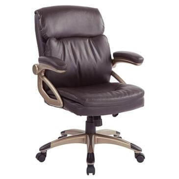 OSP Home ECH Series Executive Low Back Chair in Espresso, , large