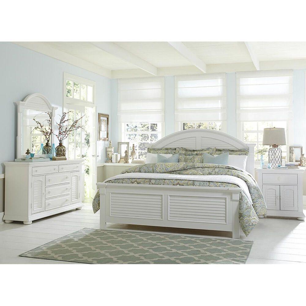 Belle Furnishings Summer House 5 Drawer 2 Door Dresser in Oyster White, , large