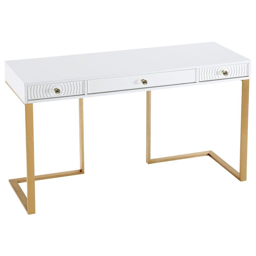 Tov Furniture Janie Desk in White, , large