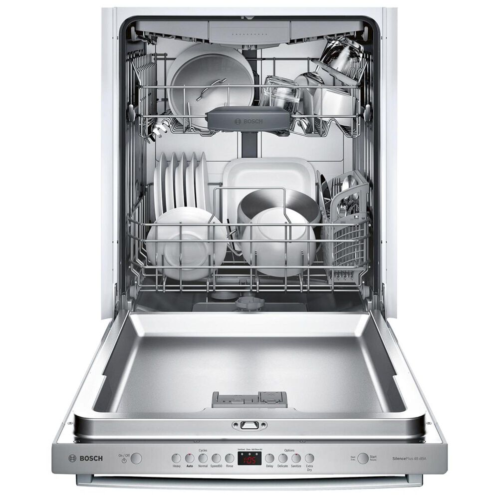 """Bosch 24"""" Bar Handle Built-In Dishwasher in Stainless Steel, , large"""