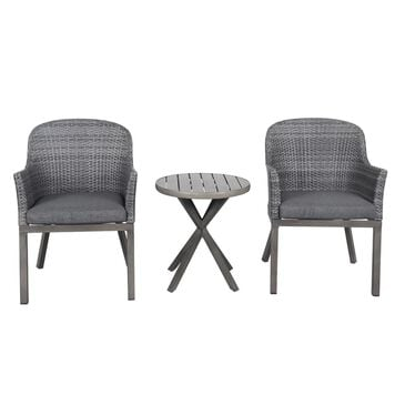 Global Note Collections Lakeside 3-Piece Bistro Set in Gray, , large