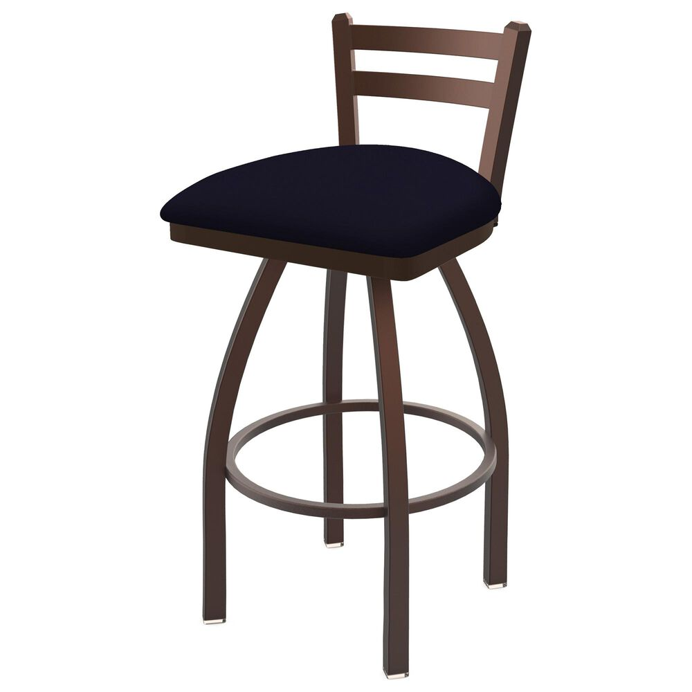 """Holland Bar Stool 411 Jackie 25"""" Low Back Swivel Counter Stool with Bronze and Canter Twilight Seat, , large"""
