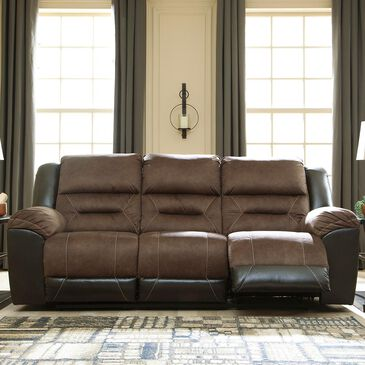 Signature Design by Ashley Earhart Manual Reclining Sofa in Chestnut, , large