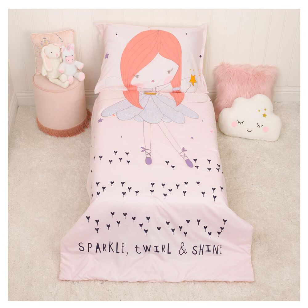 Crown Crafts Magical Fairy 4 Piece Toddler Set, , large