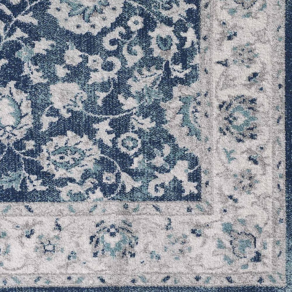 "Central Oriental Sientan Shataria 2524.230 3'1"" x 5'3"" Cream and Dark Blue Area Rug, , large"