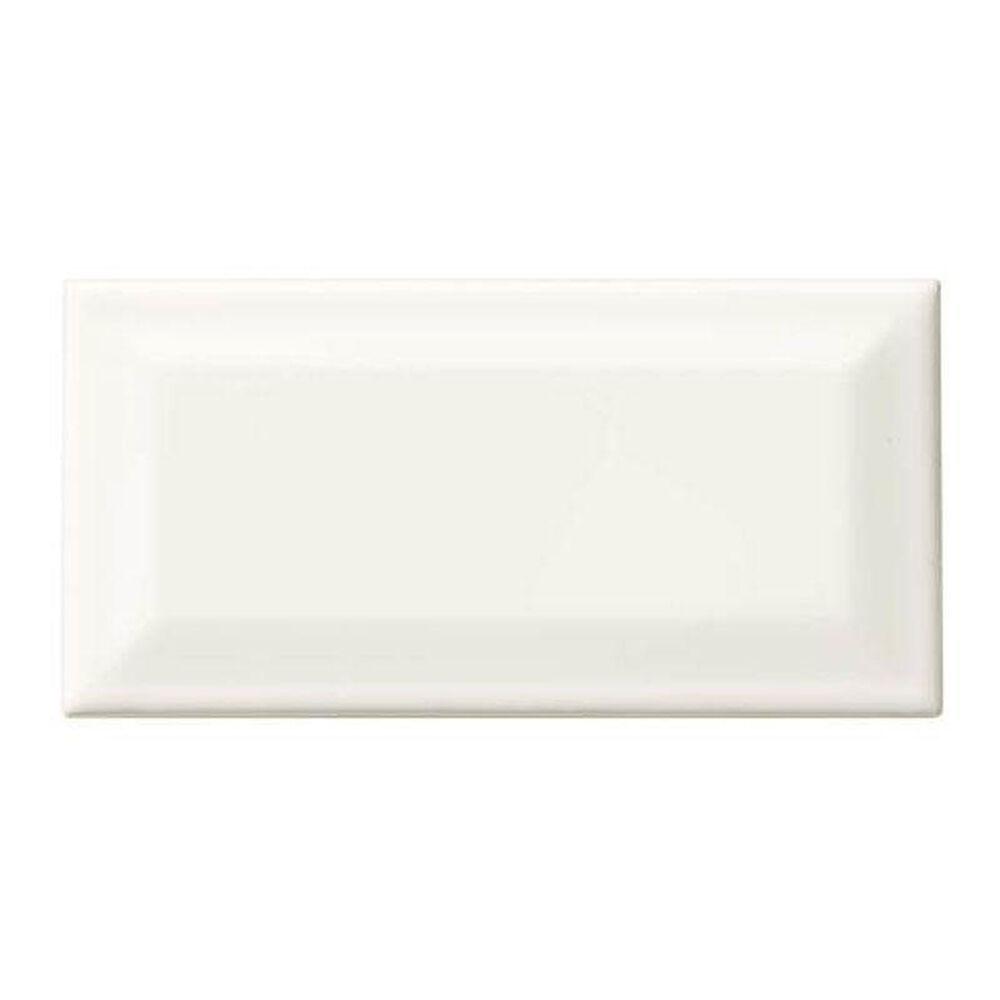 """Dal-Tile Rittenhouse Square White 3"""" x 6"""" Bevel Ceramic Tile, , large"""