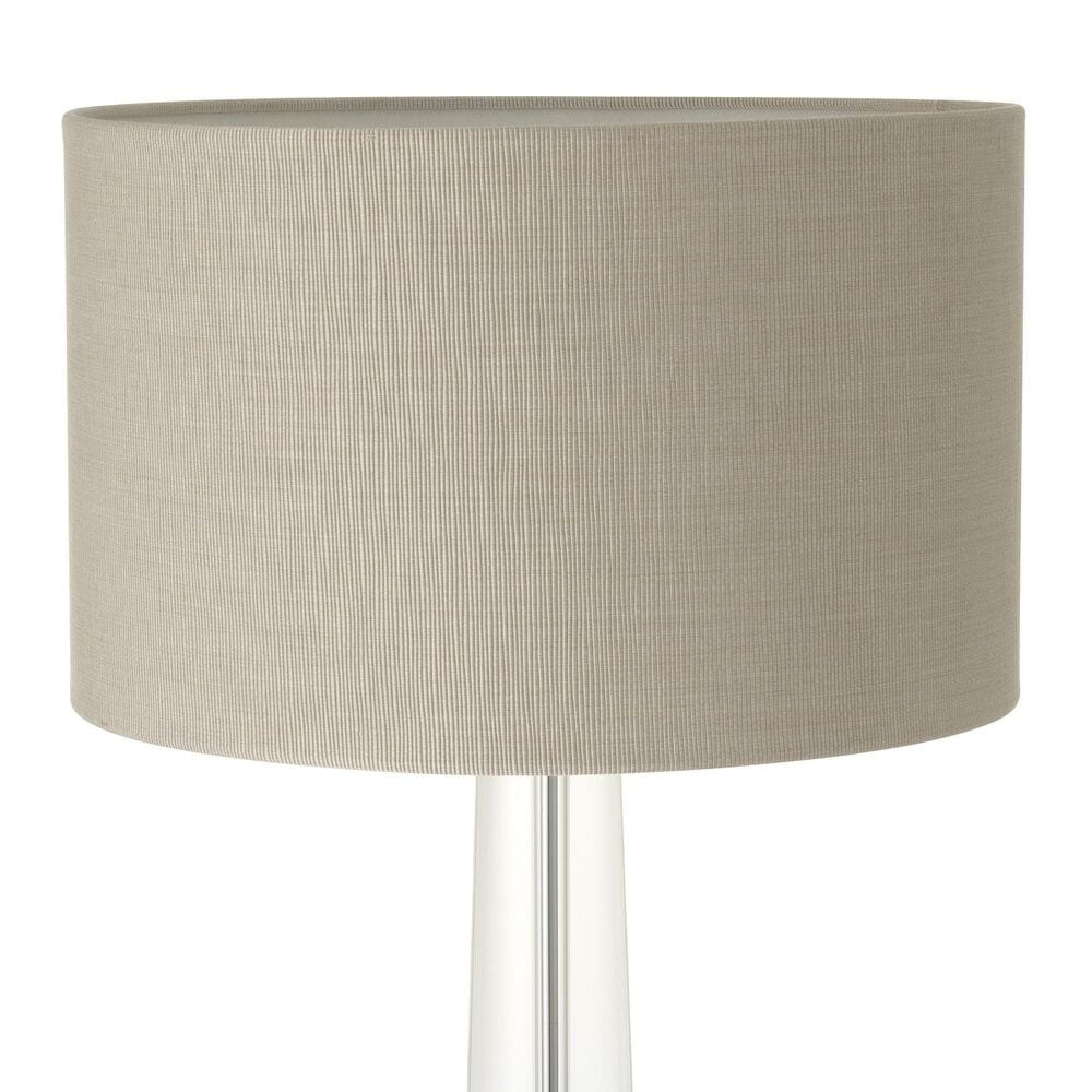 Oasis Table Lamp in Clear and Nickel, , large