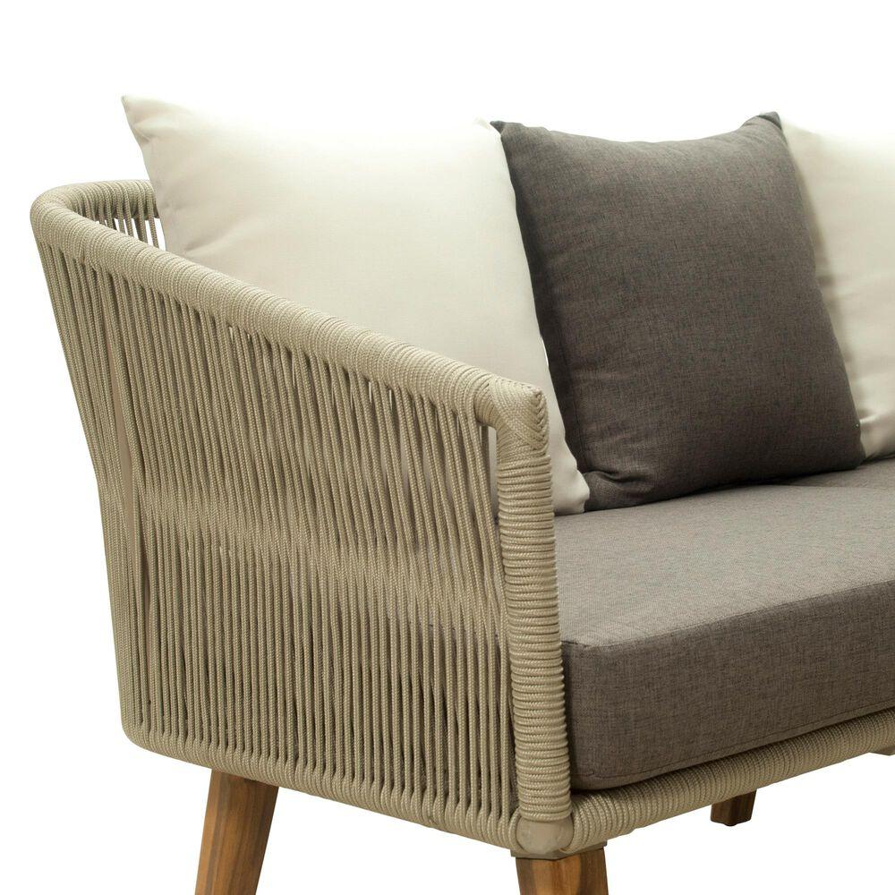 GreyPoint Herman 4-Piece Corner Lounge Set in Cappuccino/Acacia Wood, , large