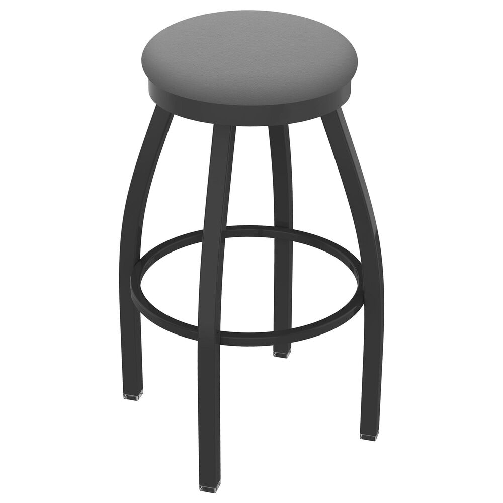 """Holland Bar Stool 802 Misha 30"""" Swivel Bar Stool with Pewter and Canter Folkstone Grey Seat, , large"""