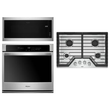 Whirlpool 3-Piece Kitchen Package with 5.0 Cu. Ft. Single Wall Oven and Microwave in Stainless Steel, , large