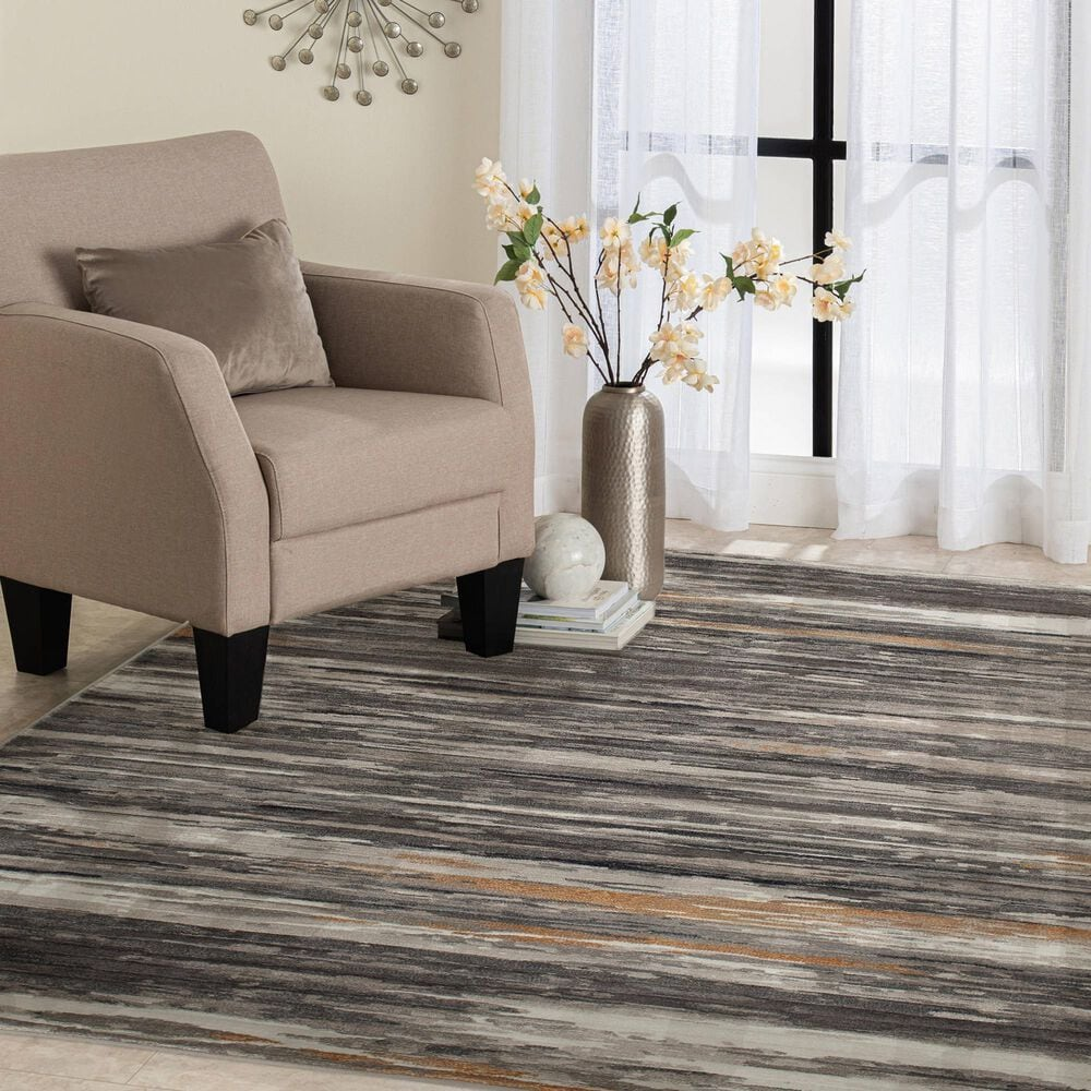 Central Oriental Adore Carena 9272CEG 8' x 10' Cement and Greige Area Rug, , large