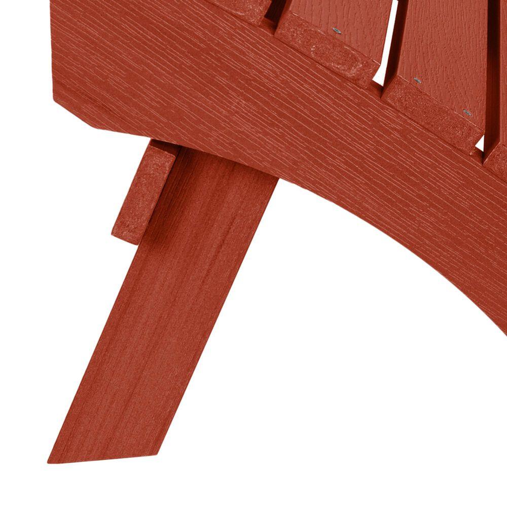 Highwood USA Folding Adirondack Ottoman in Rustic Red, , large
