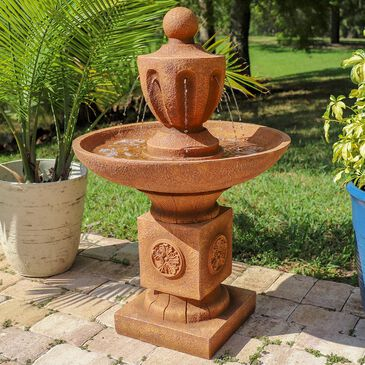 Kenroy Classic Urn Floor Fountain in Terracotta, , large