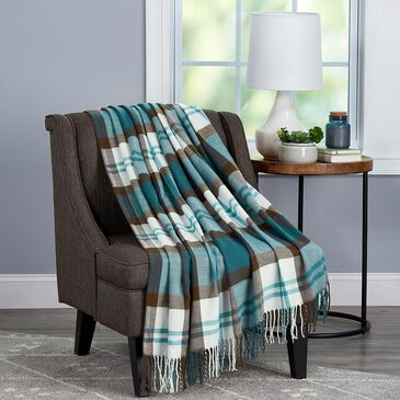 Timberlake Lavish Home Woven Faux Cashmere Feel Throw in Bristol Plaid, , large