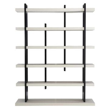 Bernhardt Silhouette Etagere in Eggshell and Onyx, , large